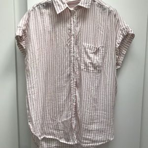 Pink and white pinstripe shirt